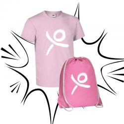 T-shirt e sacca ROSA