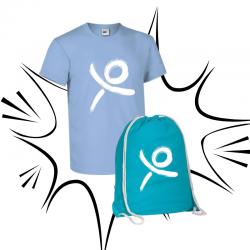 T-shirt e sacca AZZURRA